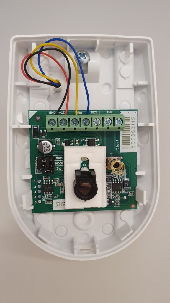 Подключение охранного датчика