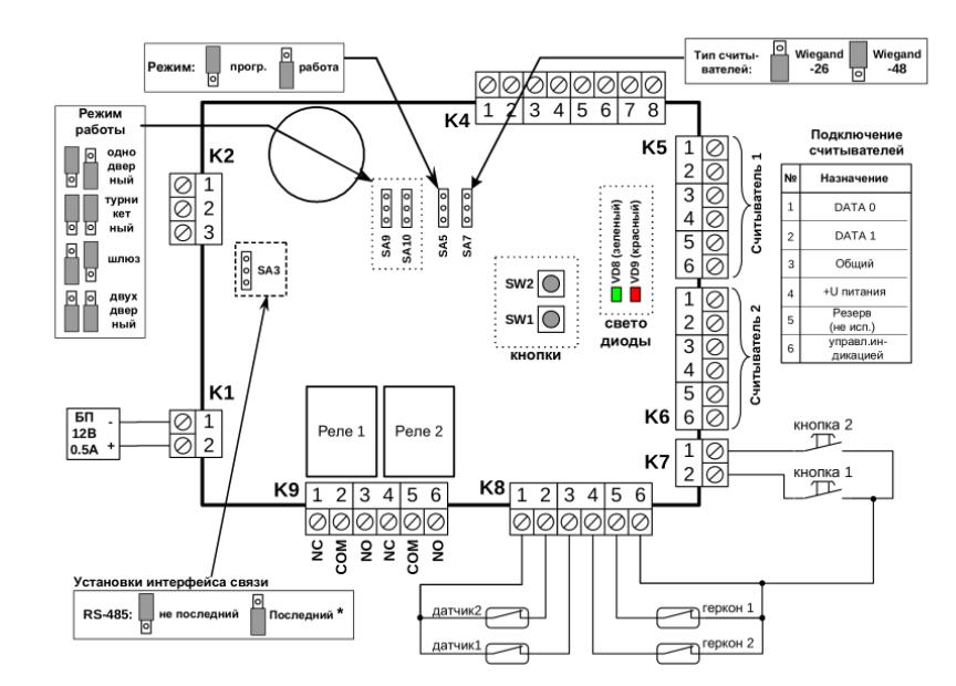 Схема подключения Gate 8000