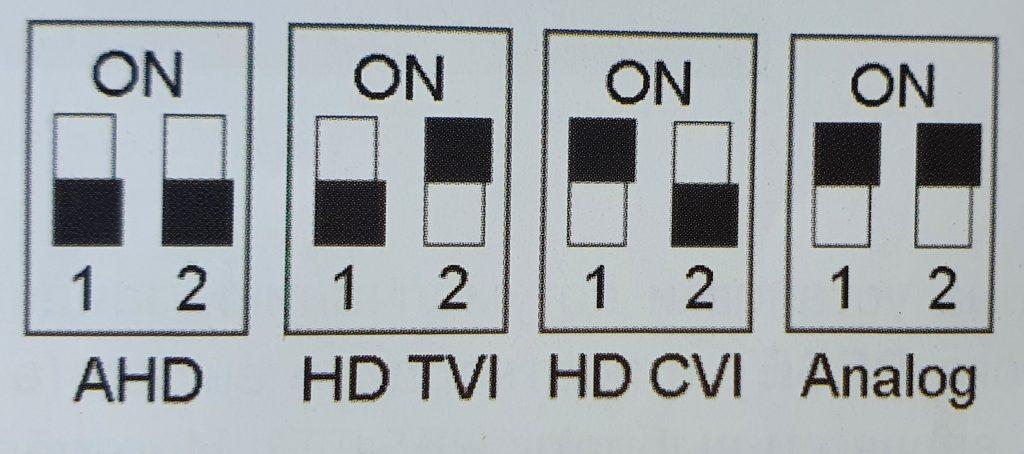 DIP - переключатели HD камеры